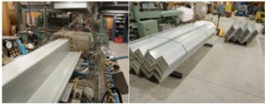 WPC Pile Extrusion on lab scale & extruded sheet piles